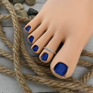 Sterling Silver Double Braid Toe Ring